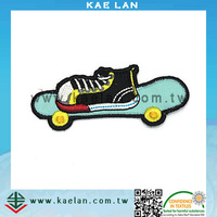 Skateboard applique patch, custom design embroidery patch for kids garment