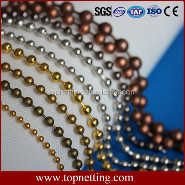 stainless steel metal ball chain curtain for roller blinds