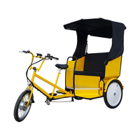 3 Passengers Motorized Battery Electric Pedicab for Sale