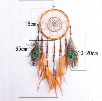 peacock feather Crochet Dream catchers MSL1051