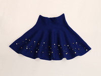 New Design Kids Black Sequin Skirt Girls Fine Wool Skirts Boutique Children Clothes In Stock ST81116-68
