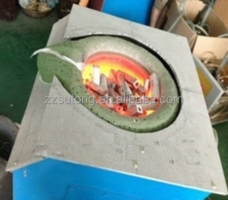 2017 Electric Heating Ingot Producing Junk Aluminum Melting Furnace with Pouring system Aluminum Cans Melting