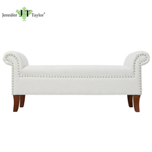 Factory with 20 years experience home furniture KD design bench/bedroom furniture fabric upholstered end of bed bench