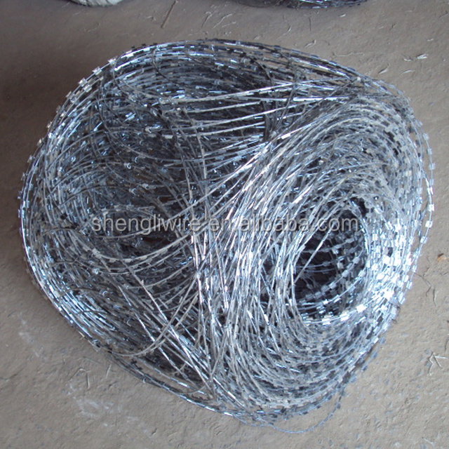 Cross Razor Type and Steel Wire Material razor barbed wire concertina razor wire bto 22 bto 30 bto 65