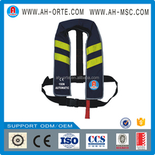 Chinese manufacturer automatic/manual marine pfd personalized Floatation device adult kayak inflatable life jacket/life vest