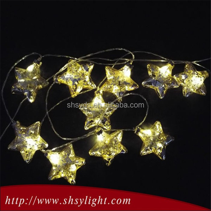 Yellow glass battery outdoor globe string light/led twinkle light