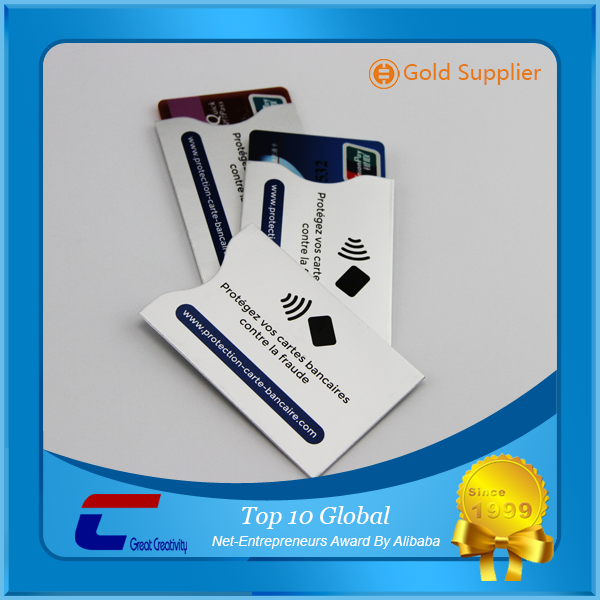 Shiny/Dull/Matt aluminum foil credit card sleeve rfid nfc protection cases paper card holder