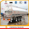 3 axles Aluminum oil tanker semi trailer with air suspension