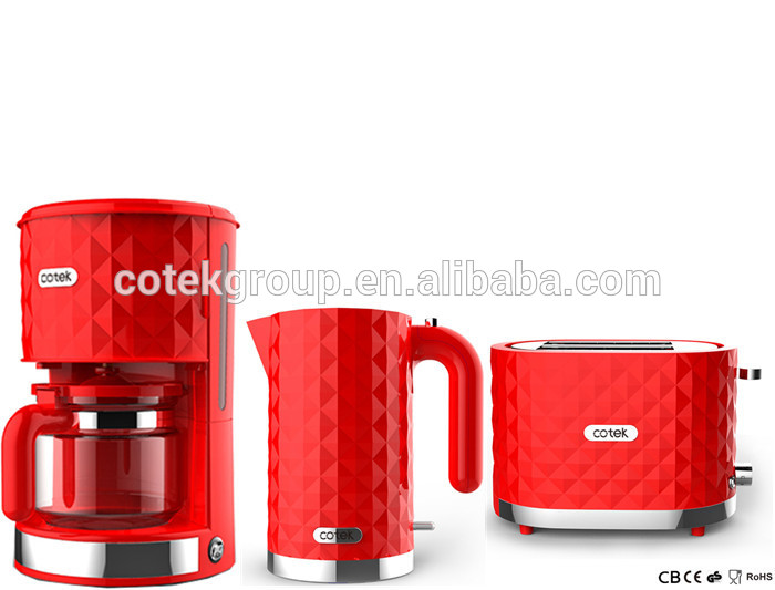 Toastmaster Electric Coffee Maker : Kitchen Appliance Diamond Design Drip coffee maker/ electric kettle/2-slice toaster with 36mm ...