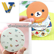 novelty decorative round pocket mirror with custom logo