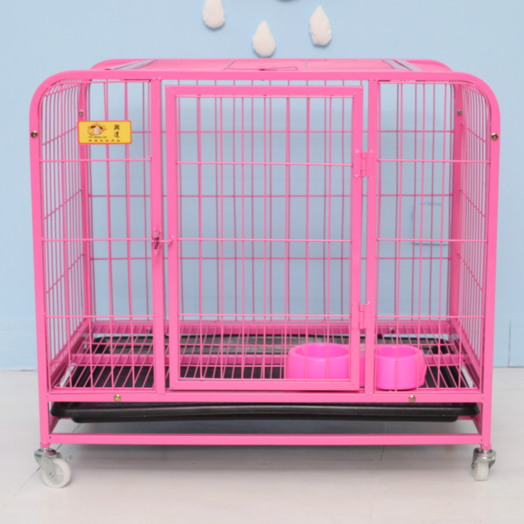 indoor heavy duty tube dog kennels dog show cage with wheels