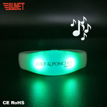 Promotion gift RGB colors motion or sound activated LED bracelet