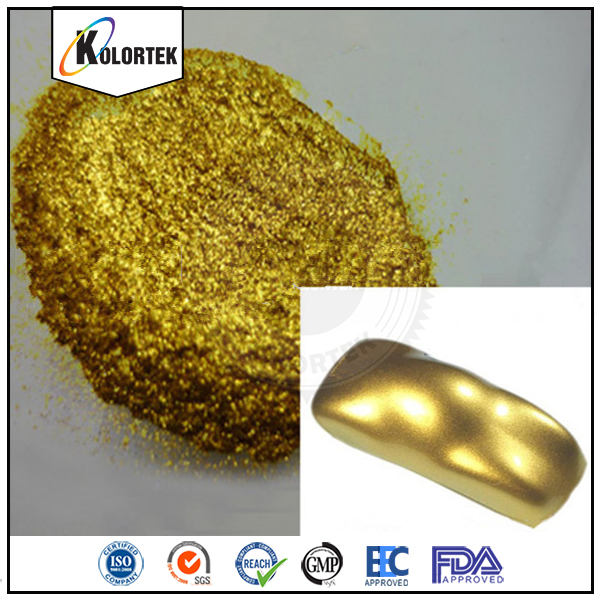 Shimmer Gold Pearl Color Aluminum Pigment Powder As Car Paint Additive