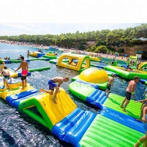 Best price giant water float island pool inflatable floating tent for person