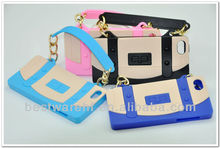 For iphone 5 Wristlet Chain cover/case/ mobile phone handbag
