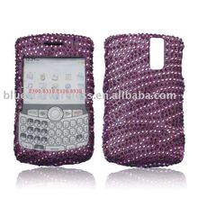 Crystal bling design case with irregular veins for Blackberry 8300(colorful rhinestone and diamond case stand firmly in anytime)