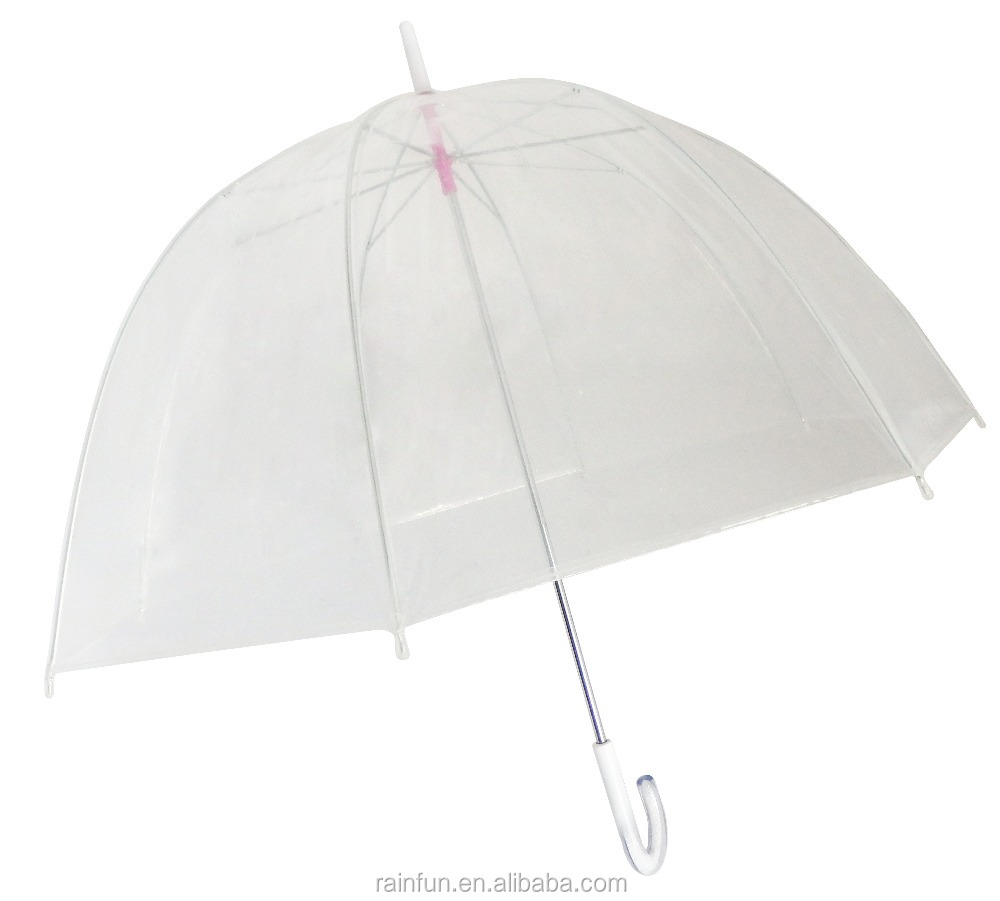 Manual open straight cheap transparent poe material umbrella