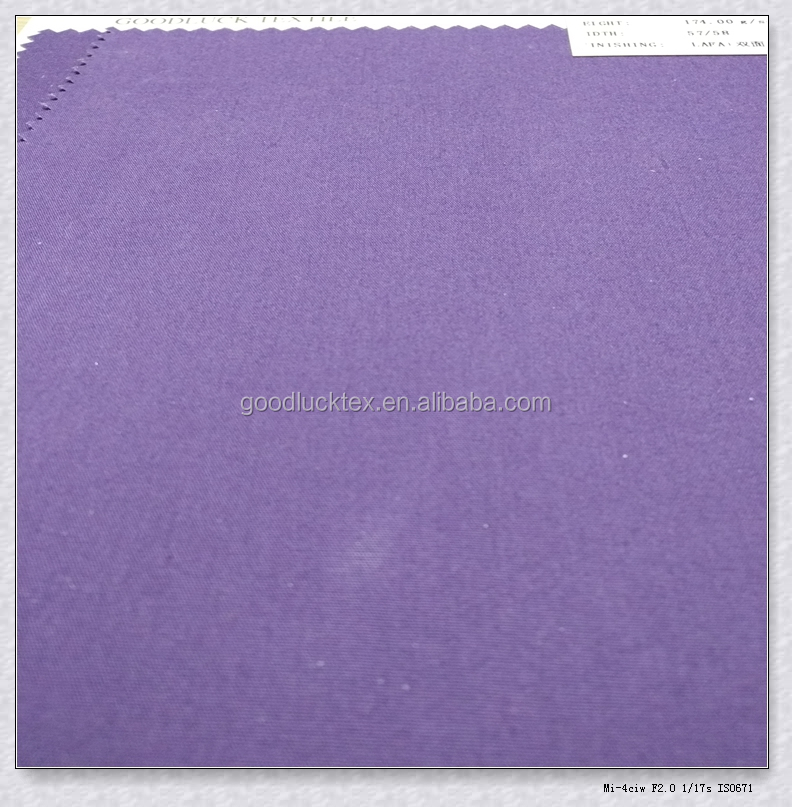 Own Factory Hot selling Dyed Purple Color LAFA Double face oil wax Cotton Poplin Fabric for Garments