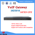 Fiber to the home VoIP Gateway 16FXS voip protocol 16pots+2FE uplink
