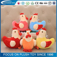 Wholesale rooster plush toy/Colorful stuffed toy chickens