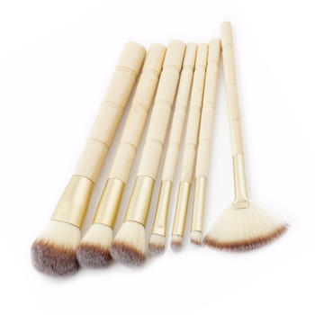 face beauty tools 7pcs bamboo handle custom logo makeup brushes maquillaje foundation blusher brush