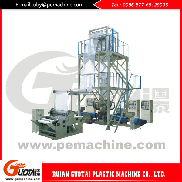 Rolls-Connecting&Dots-Servering plastic bag making film blowing extruder machine