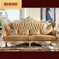 Bisini French Palace Exquisite Genuine Leather Sofa Set