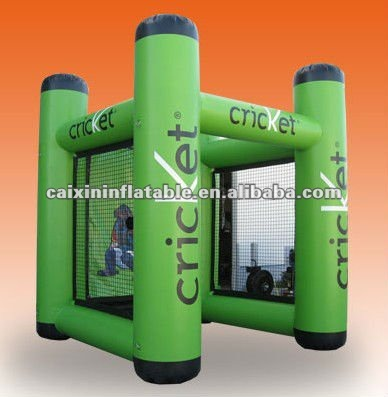 Inflatable giant Cricket shooting sports games for sale