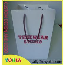 Customized Professional promotional advertising art paper bag