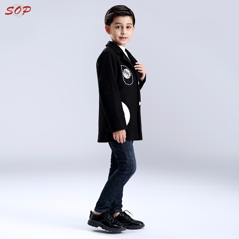 New design fancy children winter polyester outwear kids clothes coats for boys