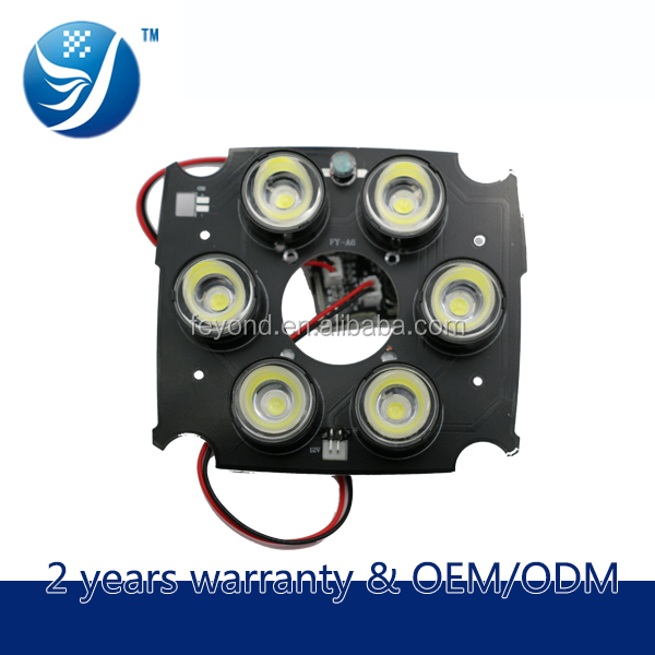 Alibaba China Dahua camera products 6-led light set bulb array safeguard board for surveillance camcorder