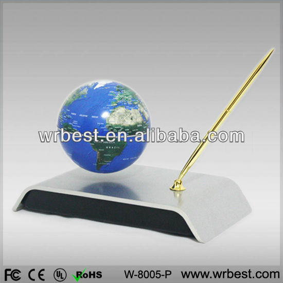 Hot selling!! Magnetic floating globe with a pen