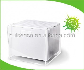New Design Hot Sell Clear File Box for Storage