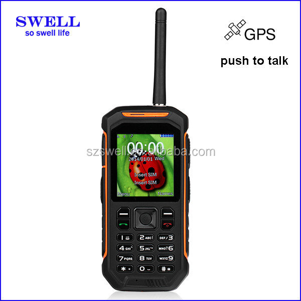 Powerful cellphone Walkie Talkie Mobile Phone IP67 feature phone X6 industrial ex mobilephone