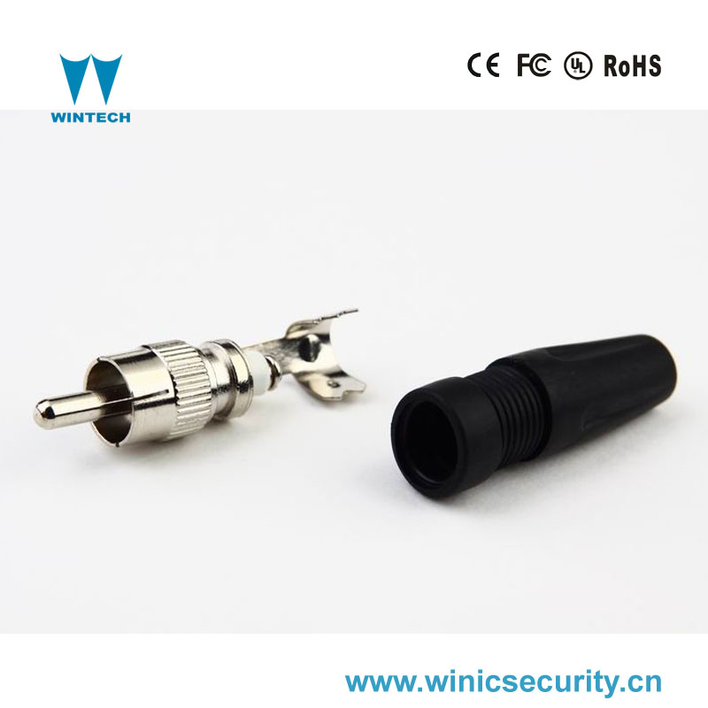 multiple solderless rca male jacket connector