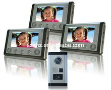 7'' colour video door phones intercom with ID card for villa touch monitor