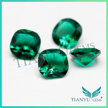 Wholesale blue emerald stone bulk gemstone /rough cut synthetic raw emerald stone for sale