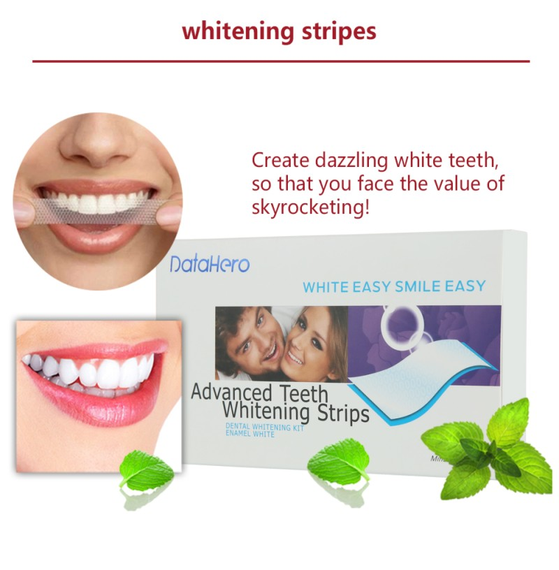 Oral Teeth Whitening Strips Professional Bleaching Tooth Whitening Products Double White Gel strips