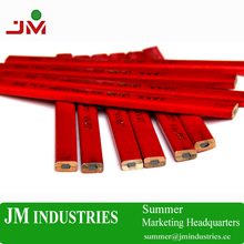 red color wood pencil for woodworking tool