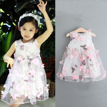 2017 Latest children net frock dress design flower kids girls party dresses for sale
