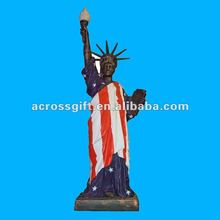Tall resin statue of liberty