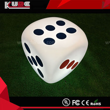 LED lighted dice stool color change illuminated led dice cube