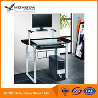 Classic Design Strong Modern Tempered Flass Computer Desk With Good Price