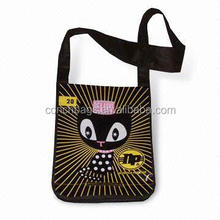 Professional wine non woven bag jute woven shopping bag with length handle