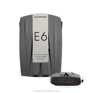 E8 Best Cheap Metal Car Radar Detector Full Band 360 Degrees Detect Scanning Voice Anti-Police English Russian Warning