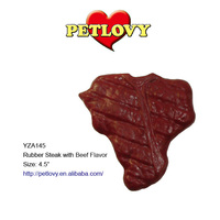 "4.5"" TPR STEAK WITH BEEF FLAVOR TPR TOY DOG TOY"