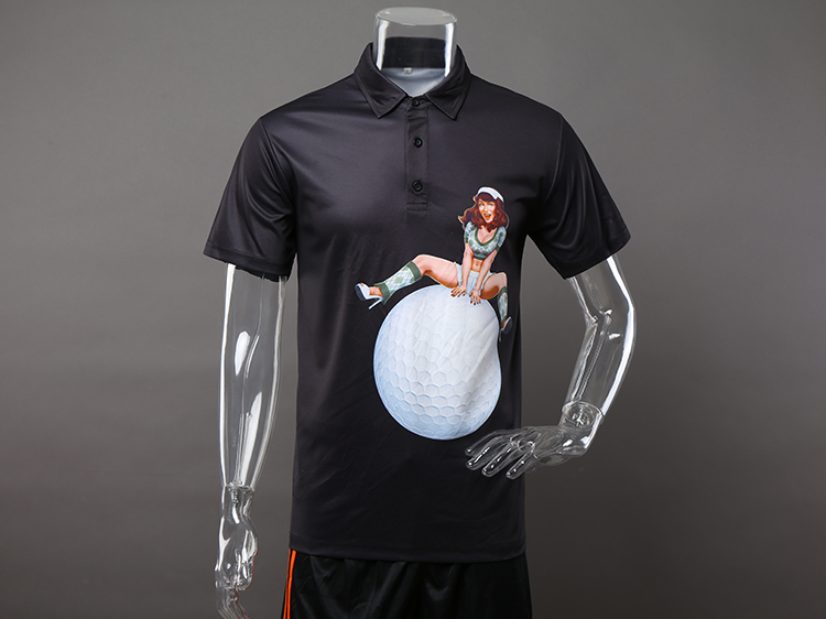 Custom latest golf polo shirt with pattern for men