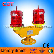 Double /twin red LED aviation obstruction beacon light