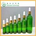 hot selling green glass bottles with childproof cap