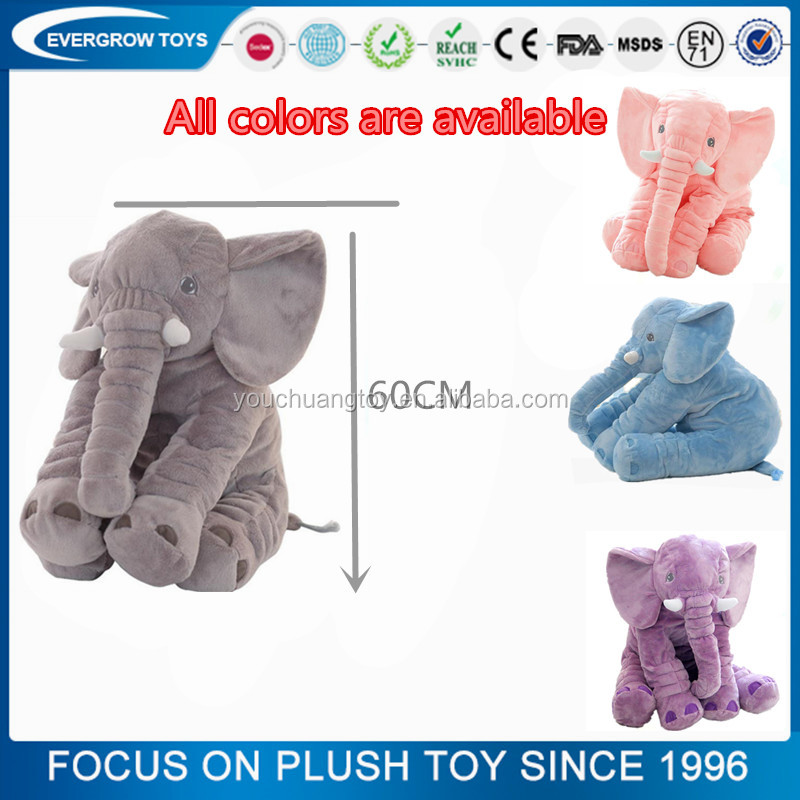 The Biggest sale colorful stuffed 60cm baby elephant pillow